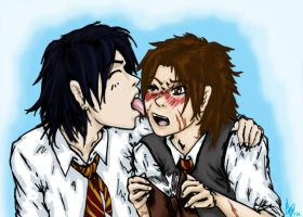 Padfoot and Moony by Kuragari75