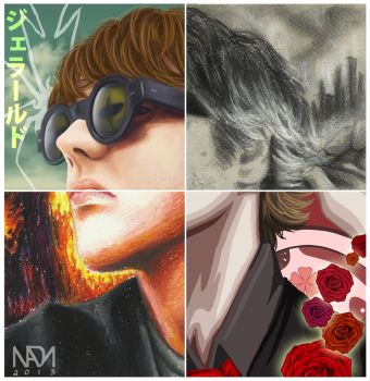 Four ways of Gerard Way by NadzEscapade