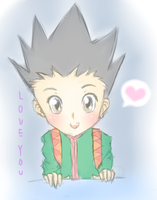 Gon loves you~ by Eeveelutions95