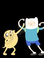 Finn and Jake Warmup by KarolinaSkaUniverse