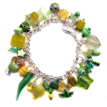 Yellow + Green Charm Bracelet by fairy-cakes