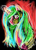 Abstract? Unicorn by ValkyrieSkies