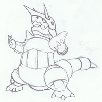 Pokemon Aggron Sketch by mssingno