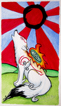 Amaterasu Howling at the Sun by white2fire