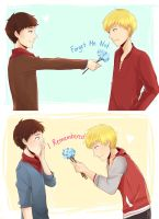 merthur forget-me-not by OrangeMouse