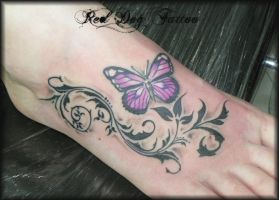 Rachel's Foot by Reddogtattoo