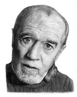 George Carlin by MLS-art
