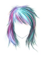 PinkBlue hair by iEvgeni
