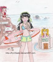 Surfer Maiko and Friends by flynfreakoarchives