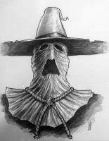 Scarecrow Con Sketch by AnthonyHightower