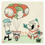 Dig Dug Digs Balloons by Montygog