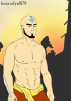 Aang at Sunset - re-reuploaded by EevyLynn