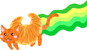 Croissant Nyan cat by Shinri-san