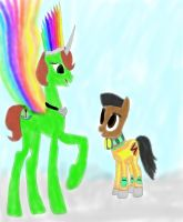 My Oc And Blityhooves rainbow wonder bolt by daylover1313