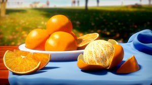 Orange Still  Life by 3DBear
