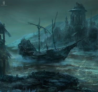 The Big Water - without sails by DartGarry
