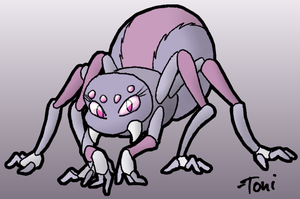 Female Spider Character by bot-chan