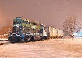 AIKR GP30 in snow by Joseph-W-Johns