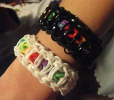 bransoletki loom bands by rarity1000