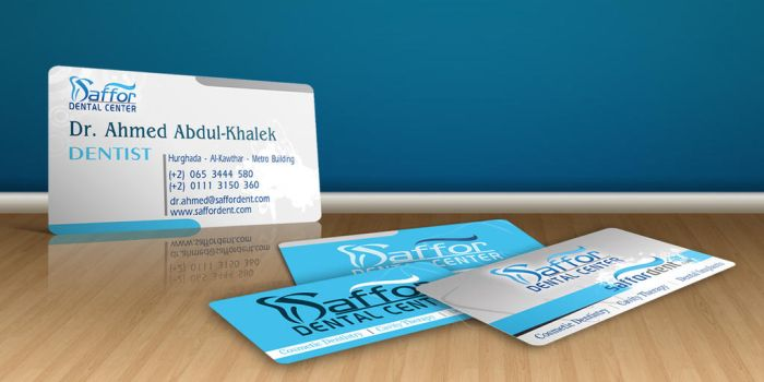 Saffor Dentist Business Card by Visionadv