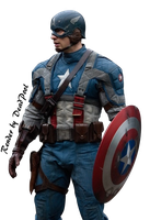 Render Captain America by By-DeadPool
