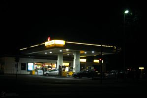 Petrol Station by DuchesseOfDusk