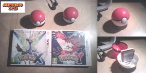 Pokemon X-y Game + pokeball goodies by Naruttebayo67