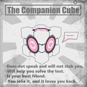 The Companion Cube Poster by punk407