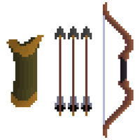Bow, Arrows and Quiver by HuntersAndPrey