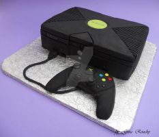 X-Box Cake by ginas-cakes