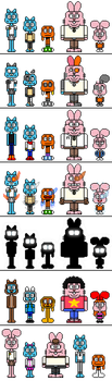 TAWoG: The Wattersons sprite sets by MixelTime