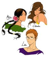 Leon, Mexico, and Colombia by hime1999