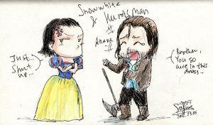 SnowWhite and Huntsman by Hanuro-Sakura