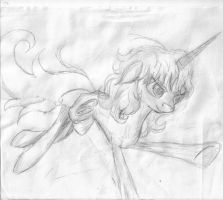 Something I have (actually)drawn for Katy Manning by Aeskulapmoth