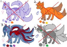 Adoptables 1 *NONE LEFT* by wakaz