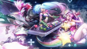 League Of Legends : Arcade Wallpaper by iamsointense