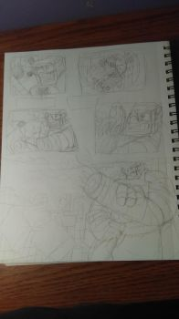 Comic page (WIP) by tophatedfox