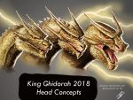 Ghidorah head concepts by Demplex