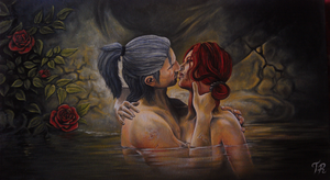 The Witcher - KISS by serukian