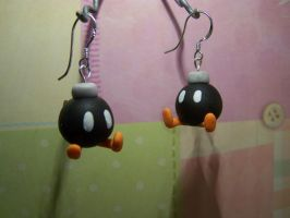 Bobomb Earrings by littlemooglet