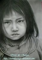 Portrait of a Vietnamese child by DansedesSonges
