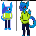 My Style Vs Your Style Meme by tunepuppy42