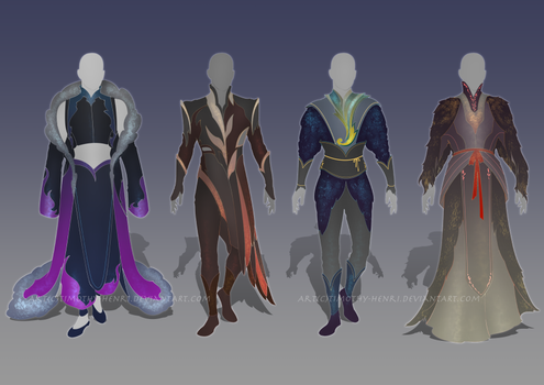 (CLOSED) - Male Outfit Adoptable Set #008 by Timothy-Henri