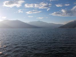 Sunset on Lake Maggiore 4 by Nevestella