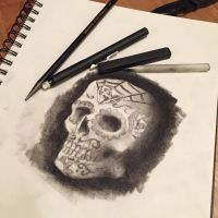 Candy skull another practice by libranchylde