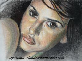 Penelope Cruz with Colour tint by HandDrawnHentai