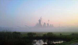 USS North Carolina   Out of the Mist Comes Death by StephenBarlow