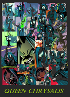 Queen Chrysalis Collage by sonicgirl1997