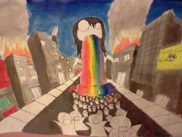 The Attack of Rainbow Vomit by MadameMochete