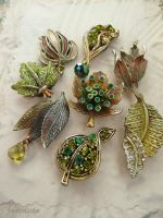 Little green leaf magnets by janedean